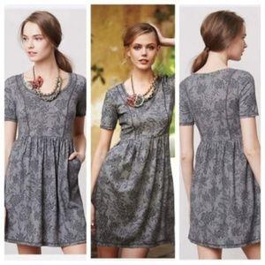 Anthropolgie saturday sunday gray floral dress